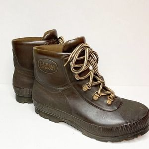 LL Bean Waterproof Brown Lace Up Ankle Boots 6.5